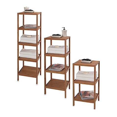 Lastest Altra Furniture Bamboo Bathroom Corner Tower W5 Shelves Cherry Towel