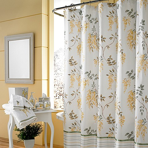 J queen new york citron shower curtain bed bath beyond for A bathroom item that starts with g