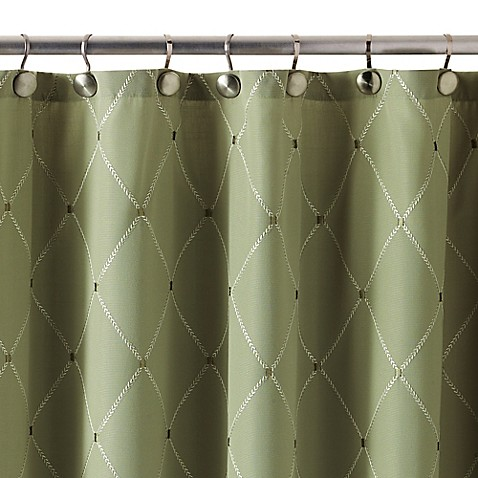 Wellington Shower Curtain In Green Bed Bath Beyond