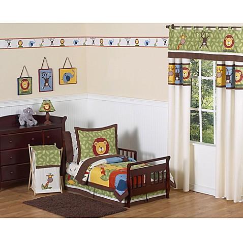 Sweet jojo designs jungle time bedding collection bed for Sweet jojo designs bathroom
