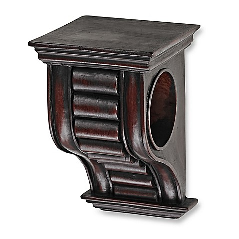 Cambria 174 Premier Wood Drapery Sconce In Cherry Bed Bath