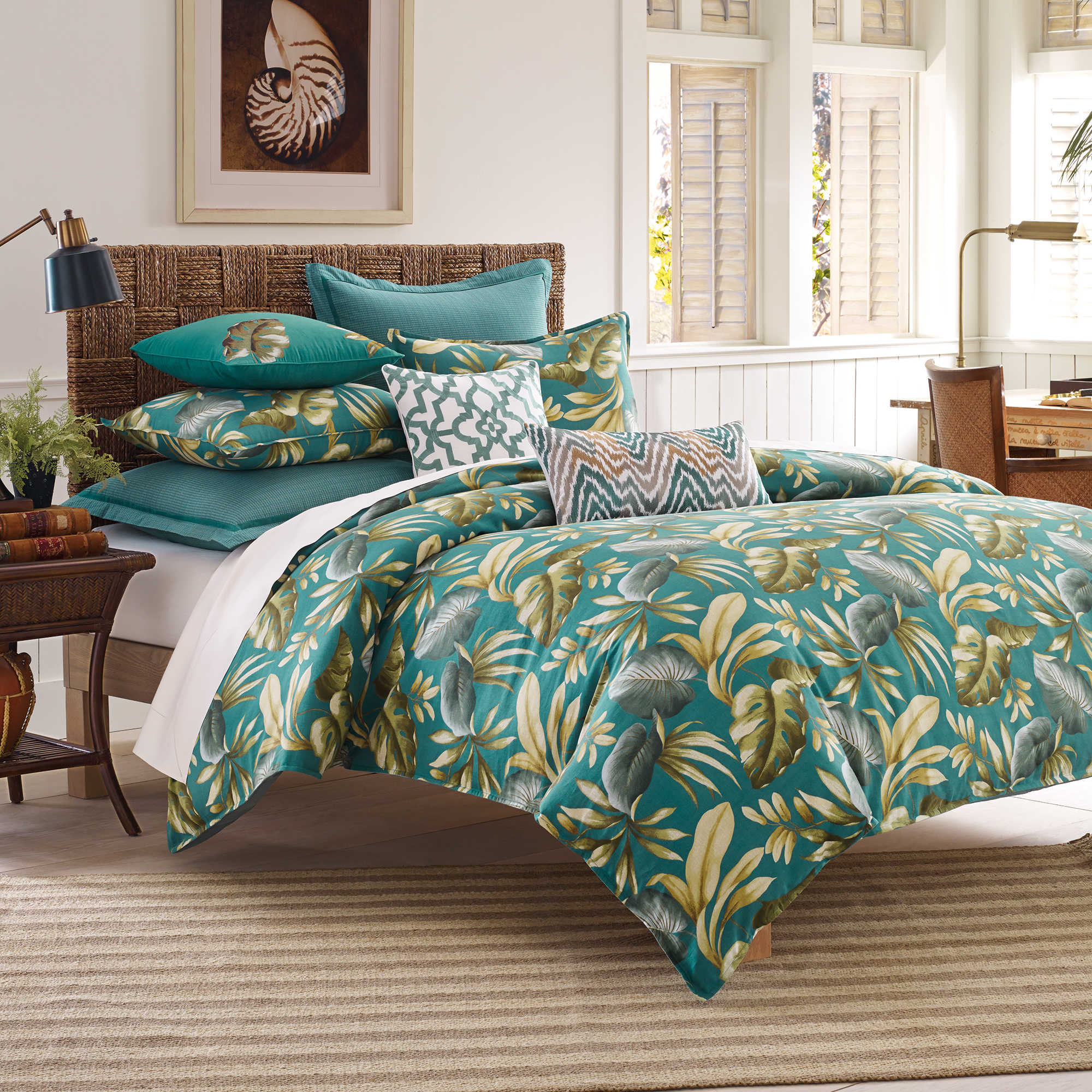 Pottery Barn Tropical Bedding Island Surf Quilted Bedding