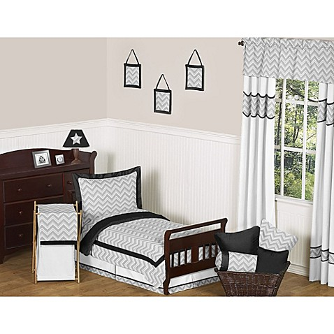 Sweet jojo designs zig zag toddler bedding collection in for Zig zag bedroom ideas