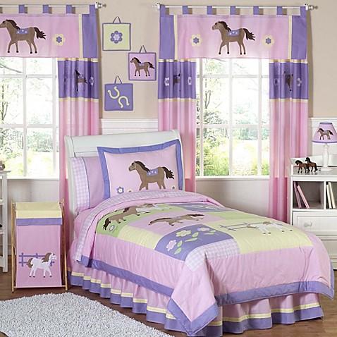 Sweet jojo designs pretty pony comforter set bed bath for Sweet jojo designs bathroom