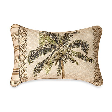 Decorative Pillow Palm Tree : Buy Tapestry Palm Tree Oblong Throw Pillow from Bed Bath & Beyond