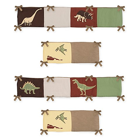 Sweet Jojo Designs Dinosaur Land 4 Piece Crib Bumper Bed