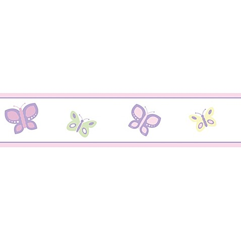 Sweet Jojo Designs Butterfly Wallpaper Border In Pink