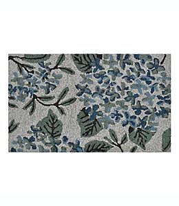 Tapete decorativo de polipropileno Devgiri Easy Care Garden Floral Bouquet color azil/verde