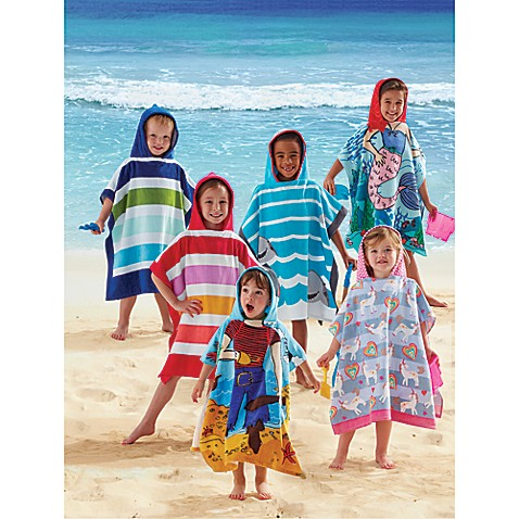 kids printed hooded beach towels bed bath beyond