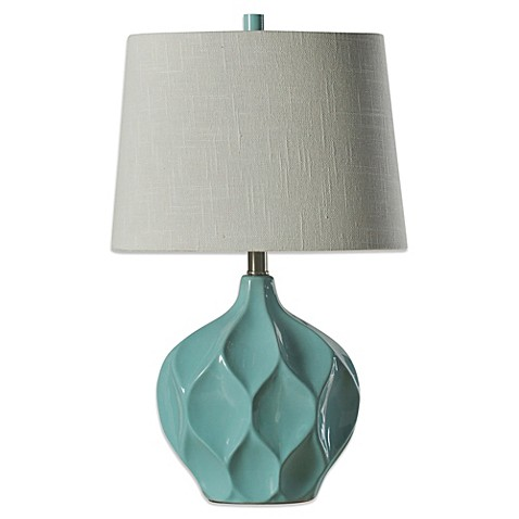 Coventry Facets Ceramic Table Lamp in Woodlawn - Bed Bath ...