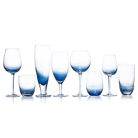 Mikasa® Swirl Stemware Collection in Cobalt at Bed Bath & Beyond in Cypress, TX | Tuggl