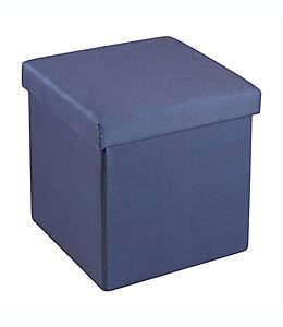 Otomana plegable SALT™ con charola, 38.1 cm en azul marino