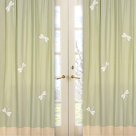 Sweet Jojo Designs Dragonfly Dreams Window Panel Pair In