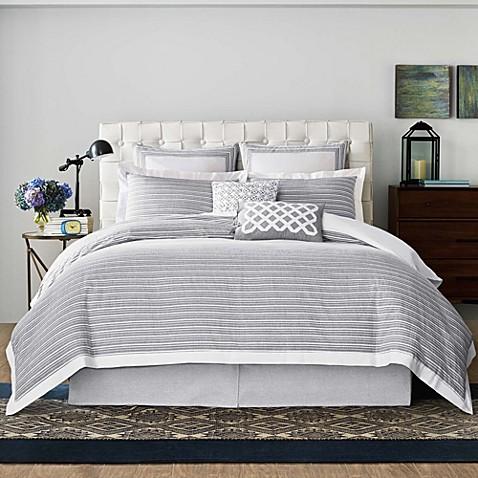 Real Simple 174 Soleil Duvet Cover In Grey Bed Bath Amp Beyond