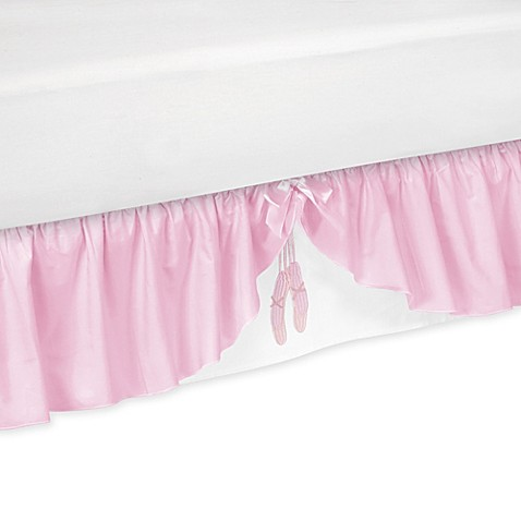 Sweet jojo designs ballerina queen bed skirt bed bath for Sweet jojo designs bathroom