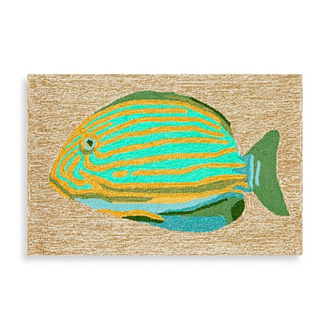 Trans Ocean Frontporch Striped Fish Door Mat