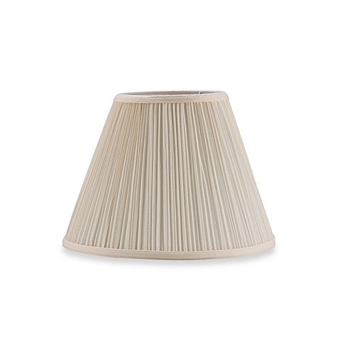 mix match small 12 inch pleated empire lamp shade in white mushroom. Black Bedroom Furniture Sets. Home Design Ideas