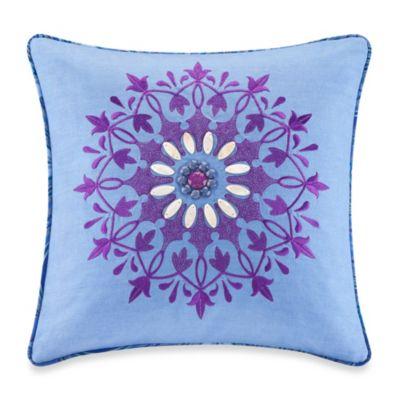 Echo Design Throw Pillows : Echo Design Jakarta Chambray Blue Square Throw Pillow - Bed Bath & Beyond
