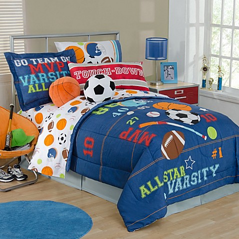 Boy Sports Bedding Full