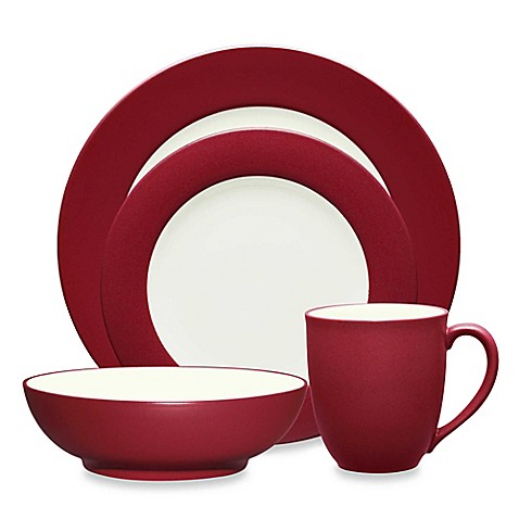 Noritake® Colorwave Rim Dinnerware Collection in Raspberry at Bed Bath & Beyond in Cypress, TX   Tuggl