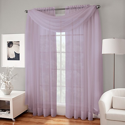 Crushed Voile Sheer Scarf Valance Bed Bath Amp Beyond