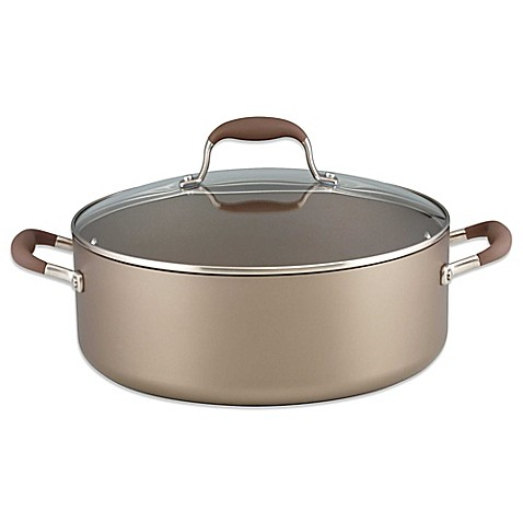 Anolon 174 Advanced Umber 7 5 Qt Covered Wide Stock Pot