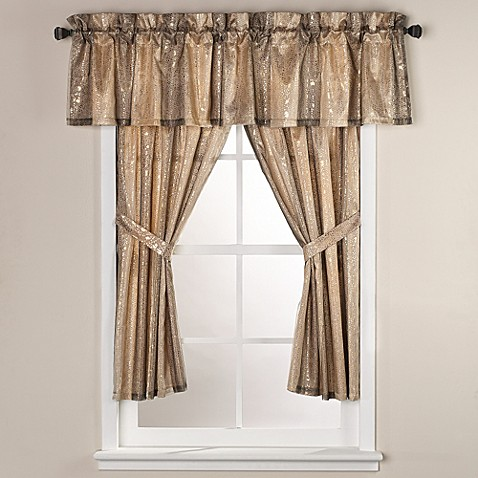 Sheer Bliss 45 Inch Bath Window Curtain Panel Pair Bed