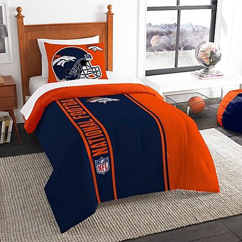 Buy Nfl Denver Broncos Full Embroidered Comforter Set From