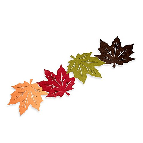 Felt Leaves 54 Inch Table Runner Bed Bath Amp Beyond