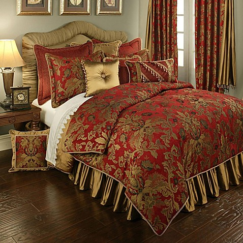 Buy Austin Horn Classics Verona King Duvet Cover In Red