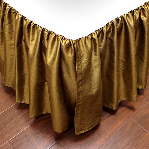 Austin Horn Classics Verona Bed Skirt In Gold Bed Bath