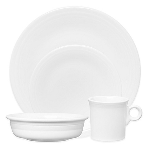 Fiesta® Dinnerware Collection in White at Bed Bath & Beyond in Cypress, TX | Tuggl