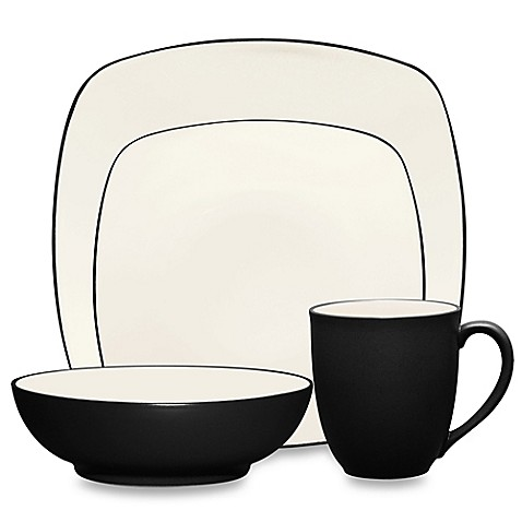 Noritake® Colorwave Square Dinnerware Collection in Graphite at Bed Bath & Beyond in Cypress, TX | Tuggl