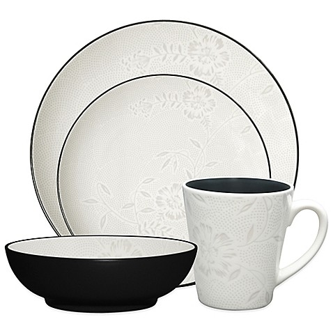 Noritake® Colorwave Graphite Bloom Dinnerware at Bed Bath & Beyond in Cypress, TX | Tuggl