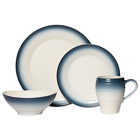 Mikasa® Swirl Ombre Dinnerware Collection in Blue at Bed Bath & Beyond in Cypress, TX   Tuggl