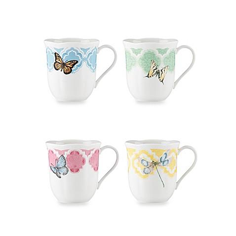 Buy Lenox Butterfly Meadow 10 Oz Trellis Dessert Mugs Set Of 4 From Bed Bath Beyond