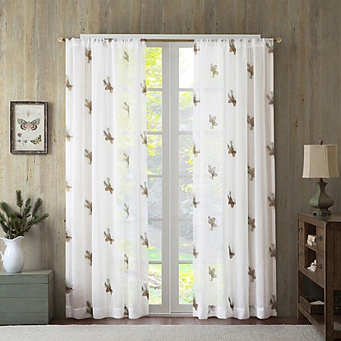 Pinecone Sheer Window Curtain Panel Bed Bath Amp Beyond