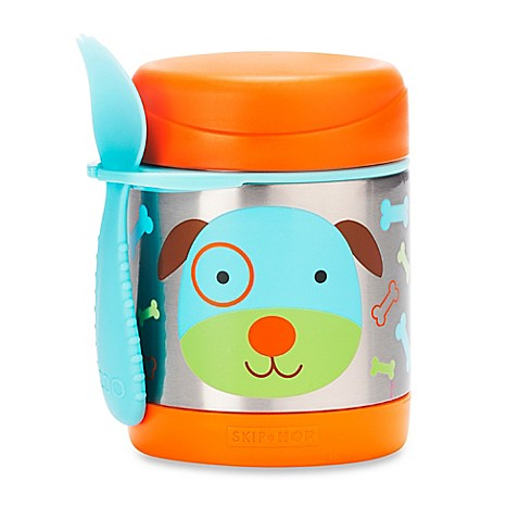 skip*hop® zoo 11 oz. insulated food jar in dog bed bath
