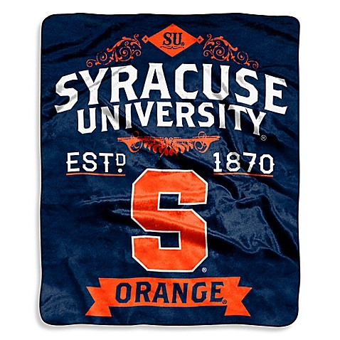 syracuse university raschel throw blanket bed bath beyond