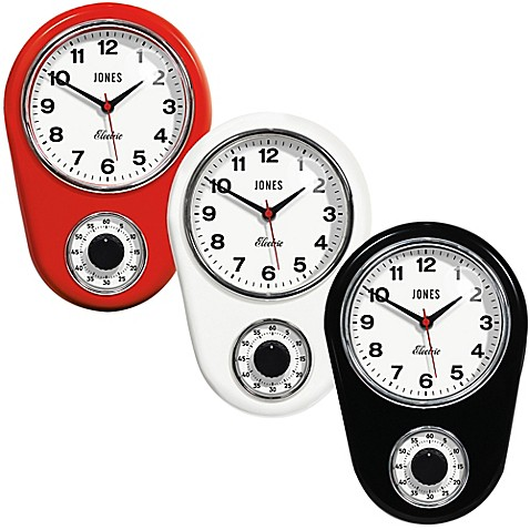 Jones 174 Clocks Timer Wall Clock Bed Bath Amp Beyond