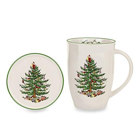 Spode Christmas Tree 12 Oz Mug And Coaster Set Bed Bath Beyond