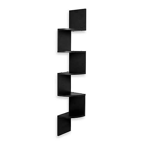Zig Zag Five Level Corner Wall Mount Shelf Bed Bath Amp Beyond