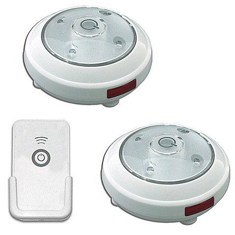 Buy Puck Lights With Remote Control Set Of 2 From Bed Bath Beyond