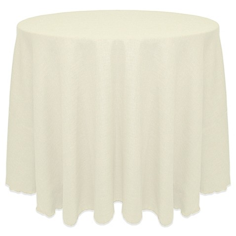 Buy Havana Rustic Faux Burlap 90 Inch Round Tablecloth In