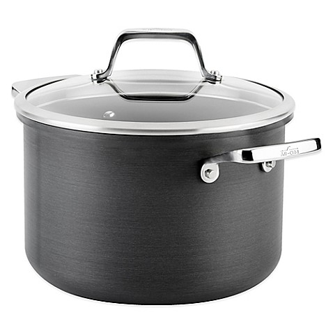 All Clad B1 Hard Anodized Nonstick 4 Qt Soup Pot With Lid