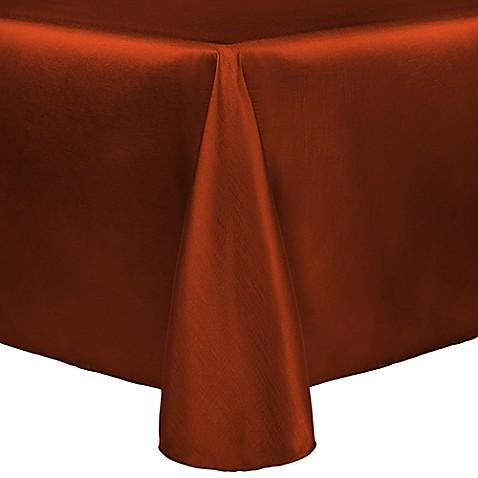 Buy Majestic 90 Inch X 132 Inch Tablecloth In Burnt Orange