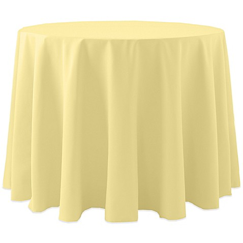 Buy Spun Polyester 90 Inch Round Tablecloth In Yellow From