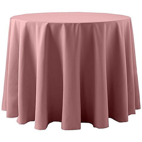 Buy spun polyester 120 inch round tablecloth in dusty pink for 120 inch round table cloths