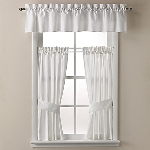 Wamsutta cane 14 inch bath window curtain valance in for 14 inch window