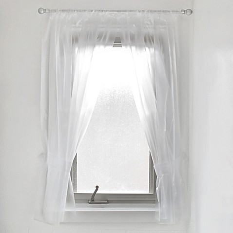 Vinyl Bathroom Window Curtain In Frost Bed Bath Amp Beyond